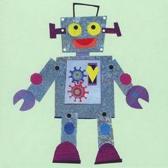 Robot knutselen met stukjes papier