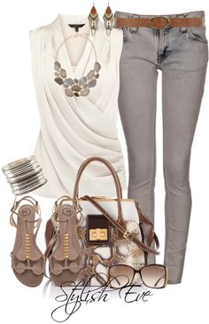 This would be really cute for a date night! I love the top and the bottom. The purse is okay and sandals are cute!