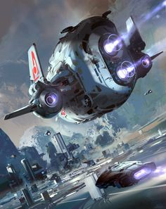 Spaceship art by SPARTH