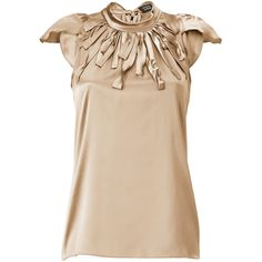 KNECKLINE TREATMENT - STEFFEN SCHRAUT Smoky Dust Strap Collar Silk Top Mountauk ($178)