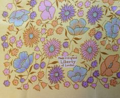 Vintage 1960s Liberty of London pastel floral multicolor silk scarf by TheElegantCollector, $37.50