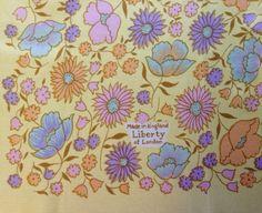Vintage 1960s Liberty of London pastel floral multicolor silk scarf by TheElegantCollector, $37.50