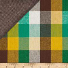 Kaufman Double Cloth Cotton Plaid Brown