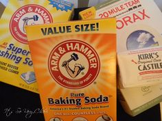 All Natural Home-Made Laundry Soap, ingredients from Walmart