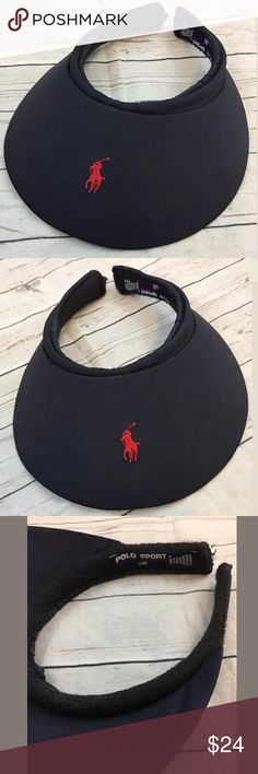 Ralph Lauren Polo Sport Blue Visor Red pony logo Ralph Lauren Polo Sport Blue Visor Red pony logo  Hard Visor- Great for outdoor sports!  Excellent Pre Owned Condition! Polo by Ralph Lauren Accessories Hats