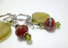 Lampworked Bead Earrings/ Sterling Silver by DarlenesGlassGarden, $21.00