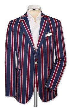 Striped Cricket / Boating Blazer - Barrington Ayre Shirtmaker & Tailor