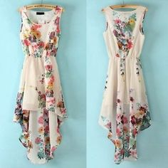 Vintage Women Summer Sleeveless Bandeau Floral Dress Elegant Chiffon Dresses | eBay