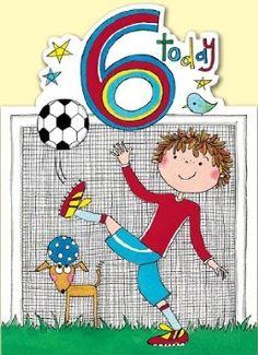 Rachel Ellen Age 6 Footballer Birthday Card