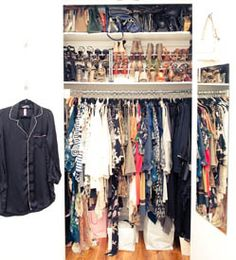 Another shot of Kelly Framel (TheGlamourai)'s closet, from The Coveteur.