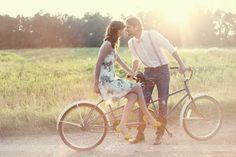 Tandem Bike Engagement shot