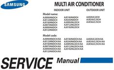 Service manual for Samsung Multi Air Conditioner Indoor Outdoor Units Air Conditioner Inverter, Error Code, Indoor Outdoor, Manual, Samsung, Coding, The Unit, Textbook, Inside Outside