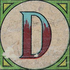 Vintage Brick Letter D Letter Symbols, Alphabet And Numbers, Letter Logo, Alphabet Letters, Fancy Letters, Love Letters, Polish Words, Letter Find, Where Is My Mind