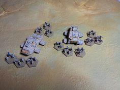 Heavy Gear Blitz - NuCoal Self-Defense Force - Khayr Ad'Din Army regiment - 2x Sampson APC and infantry elements