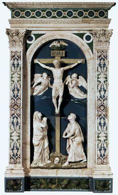 DELLA ROBBIA Luca - Italian (1400-1482) - Crucifixion, 1465.