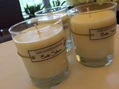 100% Soy wax candles... new look, simple labels.