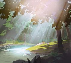 "ca-tsuka: ""Artworks of upcoming french animated tv-series ""Lastman"" directed by Jeremie Perin (based on comic book). Landscape Drawings, Landscape Art, Landscape Paintings, Art Drawings, Environment Concept, Environment Design, Animation Background, Art Background, Art Environnemental"
