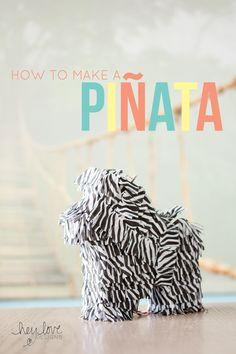 How to Make a Miniature Piñata | Hey Love Designs #DIY #parties #zonkey
