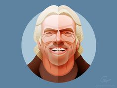 Richard Branson - infographic element