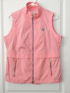 f6f56125b02 Fairway   Greene Ladies Size Small Pink Vented Double Zipper Golf Vest   fashion  clothing