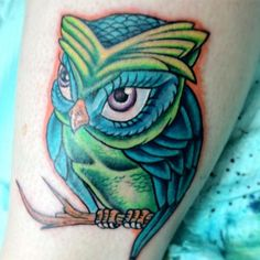 new school owl by mark sanchez jr out of silver needle studios, concord ca. - Imgur