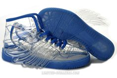 2012 London Adidas ObyO Jeremy Scott JS Wings Sneaker Blue