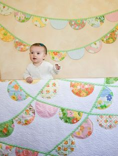 super sweet quilt pattern and bunting.