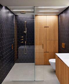Do you like this bathroom?  Triplex Apartment.  Located in #Prague #CzechRepublic  Designed by Lenka Míková & Markéta Bromová