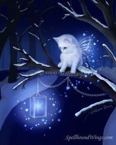 Melissa Dawn Kittens | ... | Snowflake Fairytail Fairy Cat by Melissa Dawn & Spellbound Wings