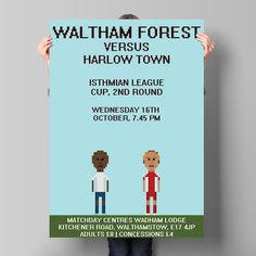 Waltham Forest FC Matchday posters on Behance
