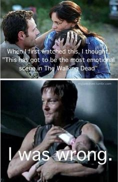 "The most emotional scene in ""The Walking Dead""… I am in love with Daryl Dixon Walking Dead Funny, Walking Dead Zombies, Rosita The Walking Dead, Fear The Walking Dead, Walking Dead Quotes, Random Walk, Z Nation, Daryl Dixon, Carl Grimes"