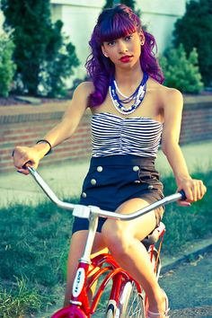 sailor tube top | Tube Top, Forever 21 High Waisted Sailor Shorts, Lavender Pump ...