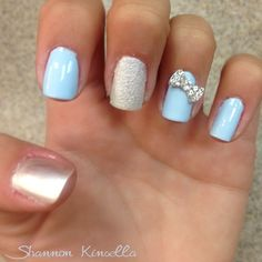 Cinderella inspired nails