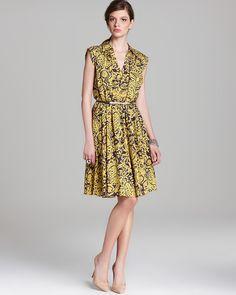 Adrianna Papell Printed Shirt Dress - Sleeveless | Bloomingdale's