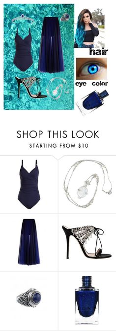 """""""going swimming in asgard"""" by shandrial ❤ liked on Polyvore featuring Melissa Odabash, Chaumet, Giuseppe Zanotti and Lazuli"""