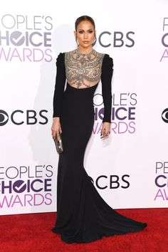 Jennifer Lopez in Reem Acra at the 2017 People's Choice Awards