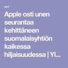 Apple osti unen seurantaa kehittäneen suomalaisyhtiön kaikessa hiljaisuudessa | Yle Uutiset | yle.fi