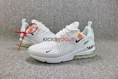 ff02cbdf92e Custom Off-White x Nike Air Max 270 Triple White