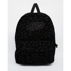 Vans Realm Backpack In Floral Velvet ( 53) ❤ liked on Polyvore featuring  bags 43445a8a466