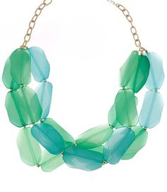 Turquoise & Green Layer Necklace