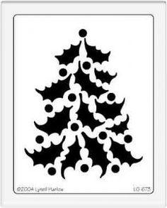Dreamweaver Stencil - Holly Christmas Tree LG673
