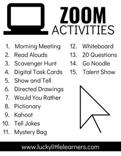 Zoom Activities to Use with Distance Learning - Lucky Little Learners - - Zoom is being used by teachers and students all over the world right now. Here are our favorite Zoom actiities to use with your clasroom. Home Learning, Learning Resources, Teacher Resources, Google Classroom, People Reading, Teaching Technology, Technology Lessons, Technology Humor, Budget Planer