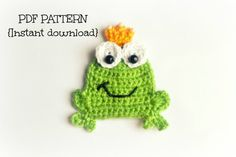 Hey, I found this really awesome Etsy listing at https://www.etsy.com/listing/201367067/crochet-frog-applique-pattern-crochet