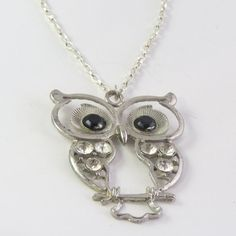 Owl pendant chain necklace by jewlerystar on Etsy
