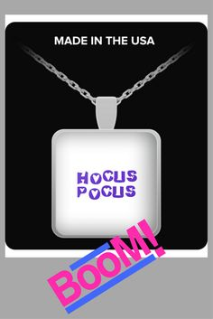Hocus Pocus, Dog Tag Necklace, Sparkle, Magic, Halloween, How To Make, Prints, Stuff To Buy, Spooky Halloween