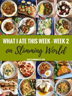 What I Ate This Week on Slimming World – Week 2 – See what I ate for week two with my full food diary including my weight loss. This is so much better than just a basic Meal Plan because you will see the food exactly how it was made and enjoyed. Slimming World Menu, Slimming World Recipes Syn Free, Slimming Eats, Easy Diet Plan, Low Carb Diet Plan, Sw Meals, Diet Meals, Frugal Meals, Freezer Meals