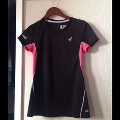 New Balance Cancer Awareness active wear Like new, used twice. Too small on me now New Balance Tops Blouses