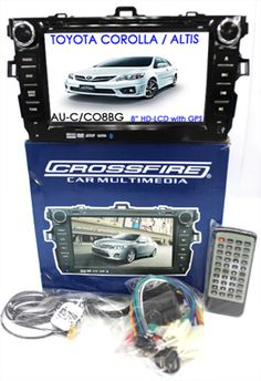 "TOYOTA COROLLA / ALTIS - 8"" LCD with GPS. HC Gold Series. 2 Din All in 1 unit. DVD, Navigation, AM-FM Radio, TV, IPOD, Multimedia Interface, Bluetooth, USB, SD card. Special Price: MYR1080.00"