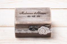 Ring Bearer Box Wedding Ring Box Rustic by InesesWeddingGallery, €27.50