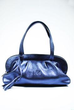 Bolso platinado Aldo Nero #anmoda #platinado #azul #aldonero